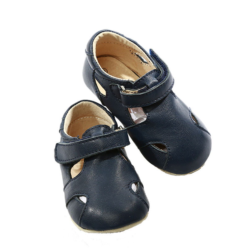 NEW-SKEANIE-Pre-walker-Leather-Sunday-Sandals-Navy-0-to-2-years thumbnail 5