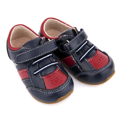 Toddler Leather Trainers Navy/Red