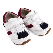 Toddler Leather Trainers White/Navy/Red