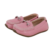 Kids Leather Loafers in Pink