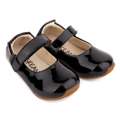 Kids Leather Mary-Jane Shoes Patent Black