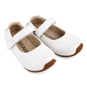 Kids Leather Mary-Jane Shoes Patent White