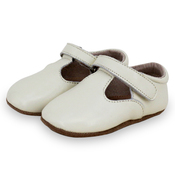 Pre-walker Leather T-Bar Shoes Ivory