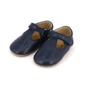 Pre-walker Leather T-Bar Shoes Navy