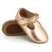Pre-walker Leather T-Bar Shoes Rose Gold