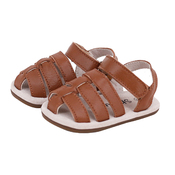 Pre-walker Leather Ziggie Sandals in Tan
