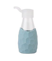 Glass Bottle with Silicone Sleeve 250ml in Blue